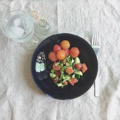 デザートにトマト