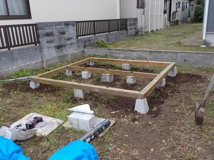 家を建てます(13)番外編 「ミニログハウス建てました!第一回」