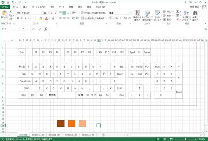 PCキーボードのキーキャップを3色で塗り分けたらジェイウッドの屋根のようになるか?