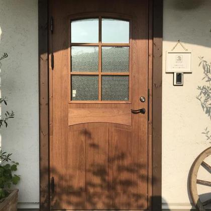 玄関ドア塗装 / ミルクペイント / ステンドガラス